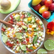 Raw Vegan Recipe | Avocado Corn Salad
