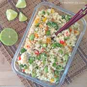 "Raw Cauliflower ""Fried"" Rice Recipe"