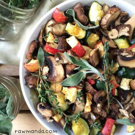 Raw Vegan Recipe | Dehydrated Mushroom Zucchini Stuffing