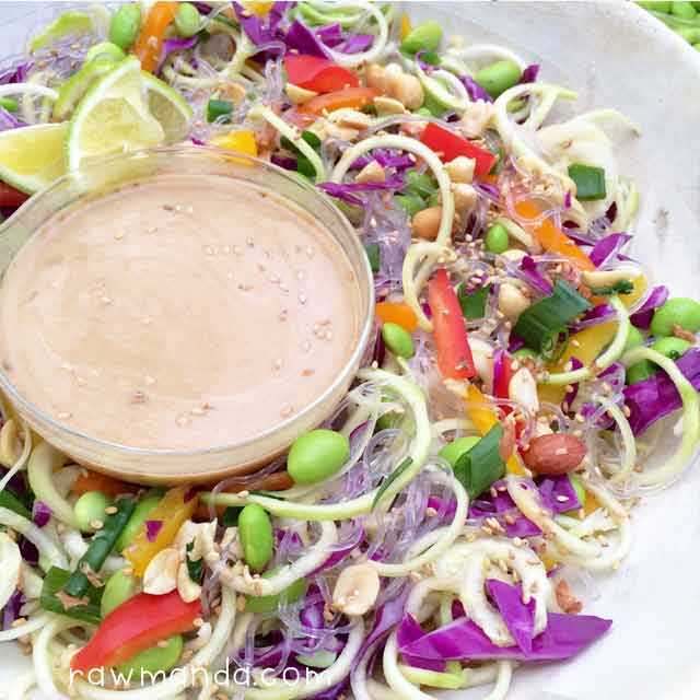 Raw Noodle Bowl Thai Peanut Dipping Sauce Recipe