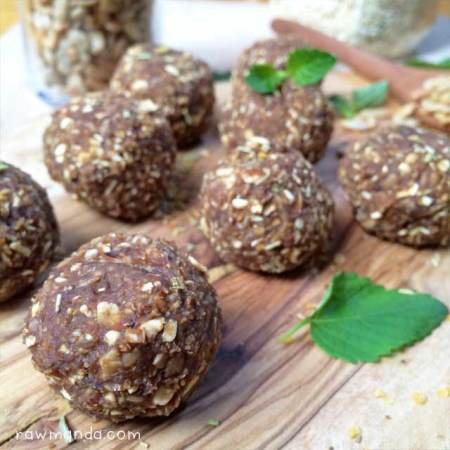 Nut-Free Vegan Meatballs + Creamy Avocado Sauce {Raw, Gluten-Free Recipe}