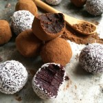 Raw Vegan Berry Chocolate Truffles