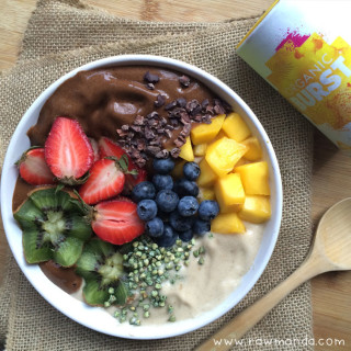 Chocolate Maca Superfood Smoothie Bowl