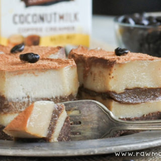 Vegan Tiramisu with Coffee and Vanilla Cream