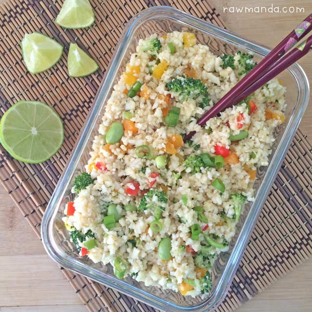 Raw cauliflower fried rice recipe vegan cauliflower fried rice raw vegan recipe forumfinder Images