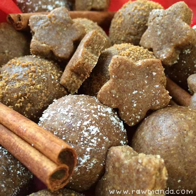 Raw Gingerbread Cookies Balls