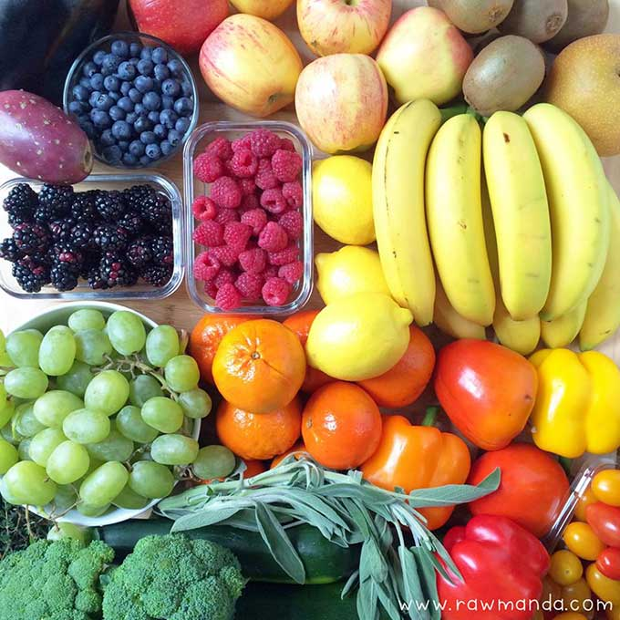 A List Of Raw Foods